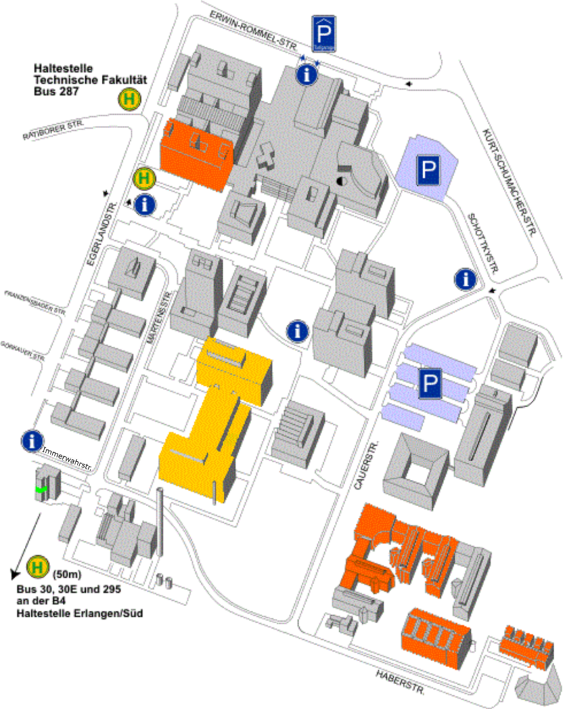Map of FAU Faculty of Engineering